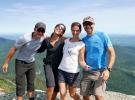 Les aventuriers au sommet du Mont Mansfield